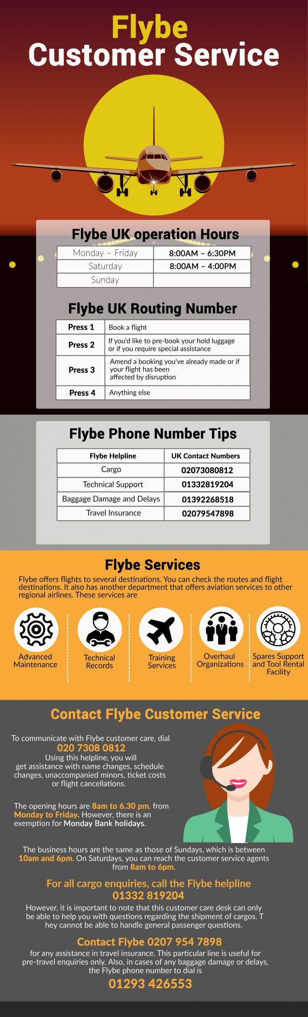 Flybe customer care numbers