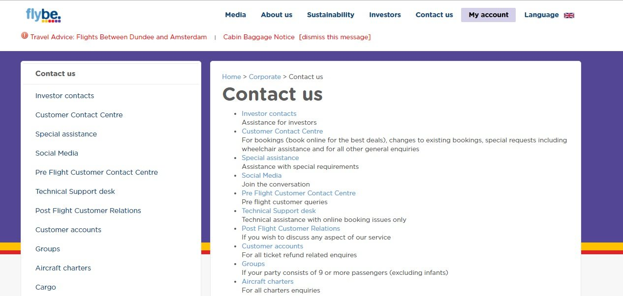 Flybe Phone Number