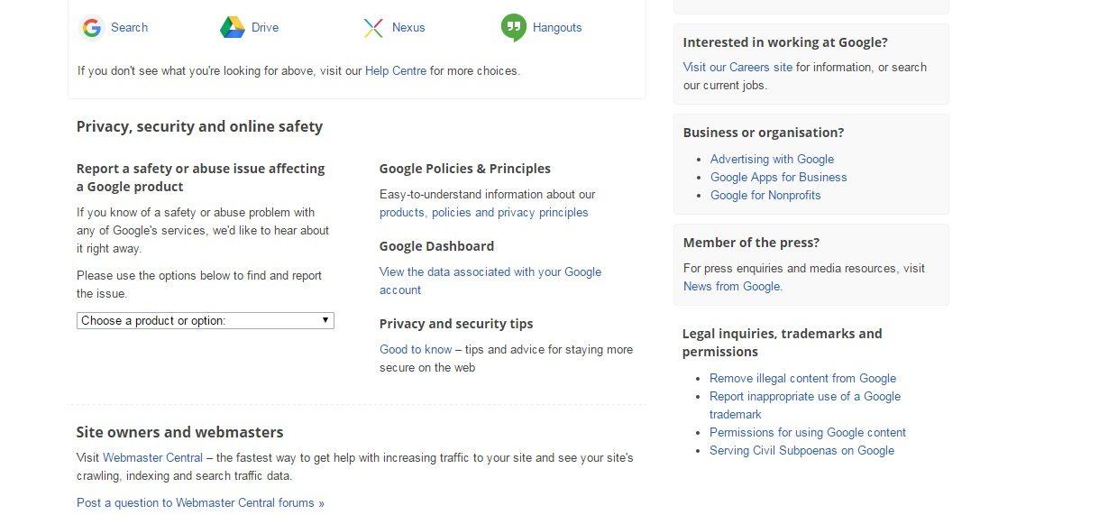 Google customer service phone number