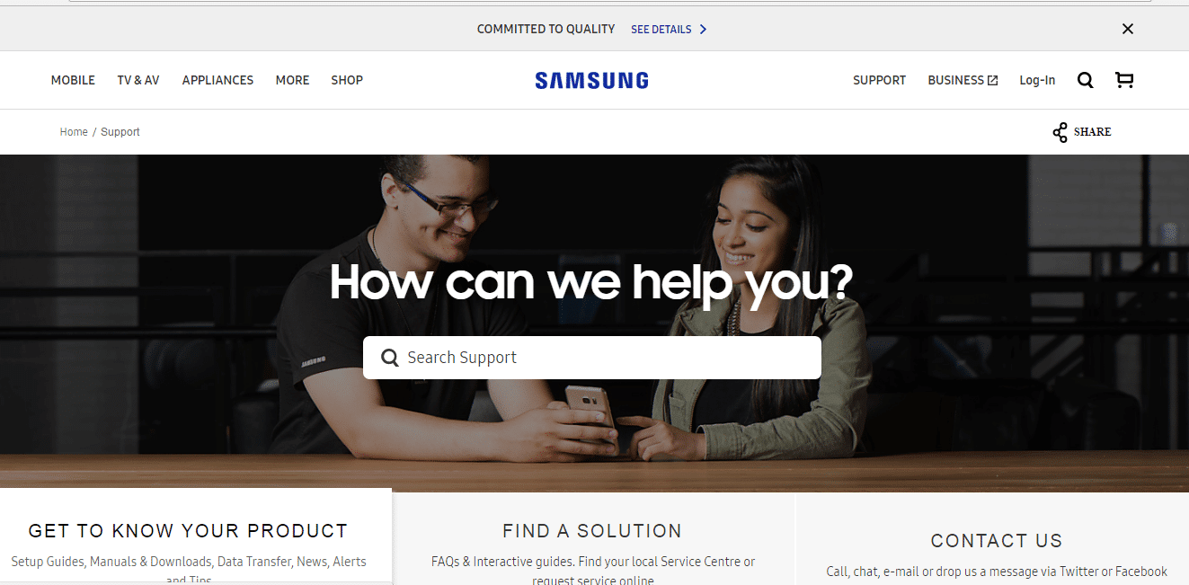 Samsung Phone Number