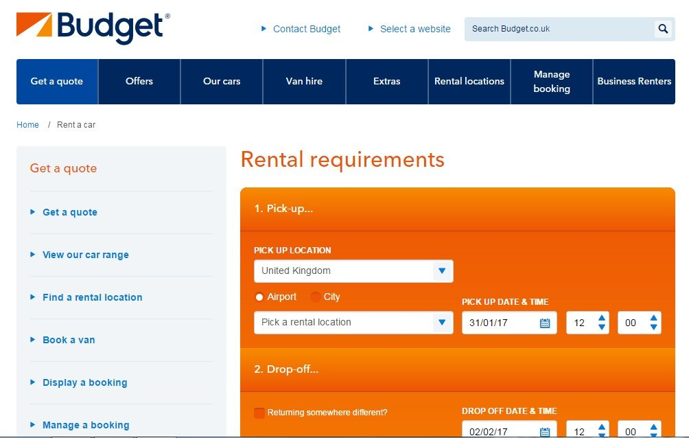 Browse rent a car locations across countries with car rentals from Budget.