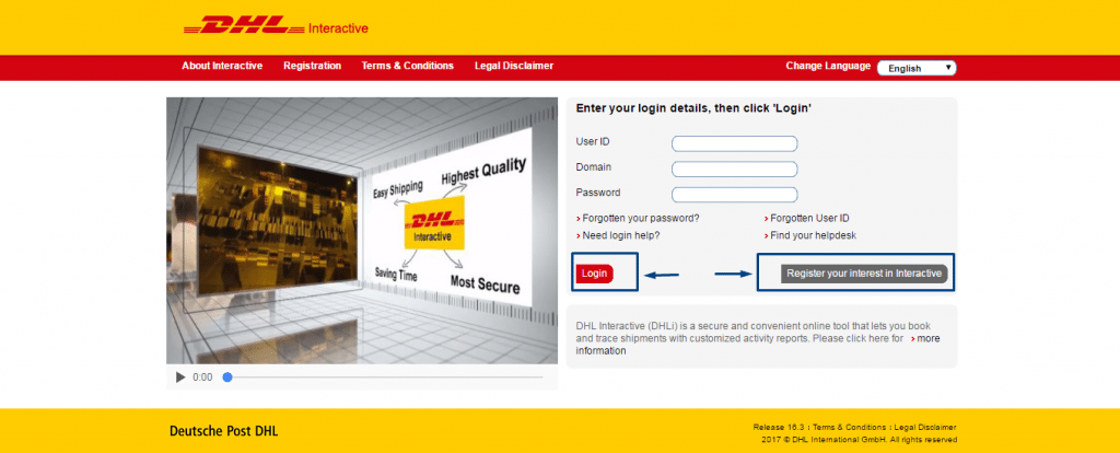 DHL Contact numbers