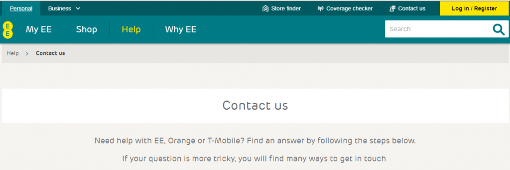 EE_ Contact numbers