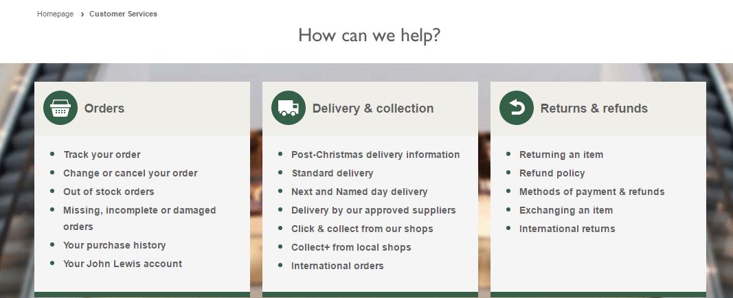 John Lewis Helpline Numbers UK