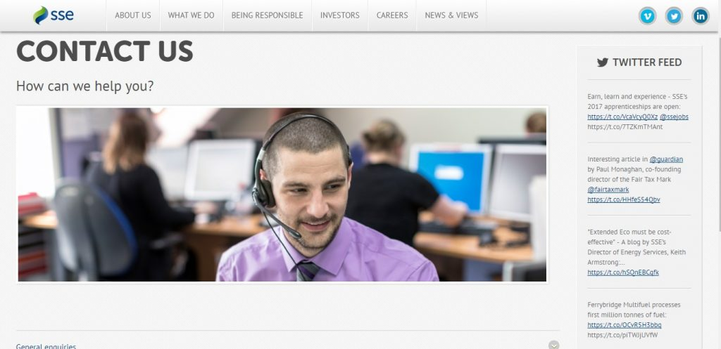 SSE Customer Service Number