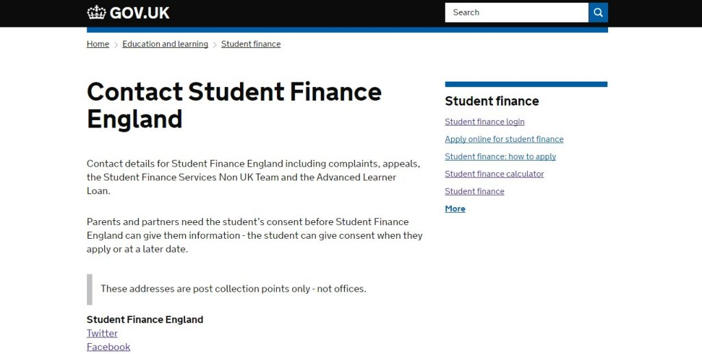 Contact Student Finance
