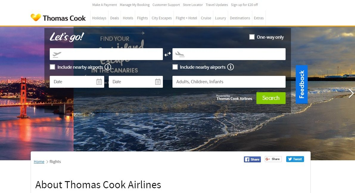 Thomas Cook phone number