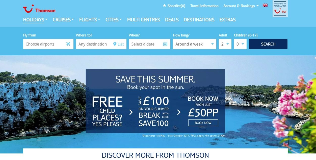 Thomson Holidays Complaints 0843 455 0113.