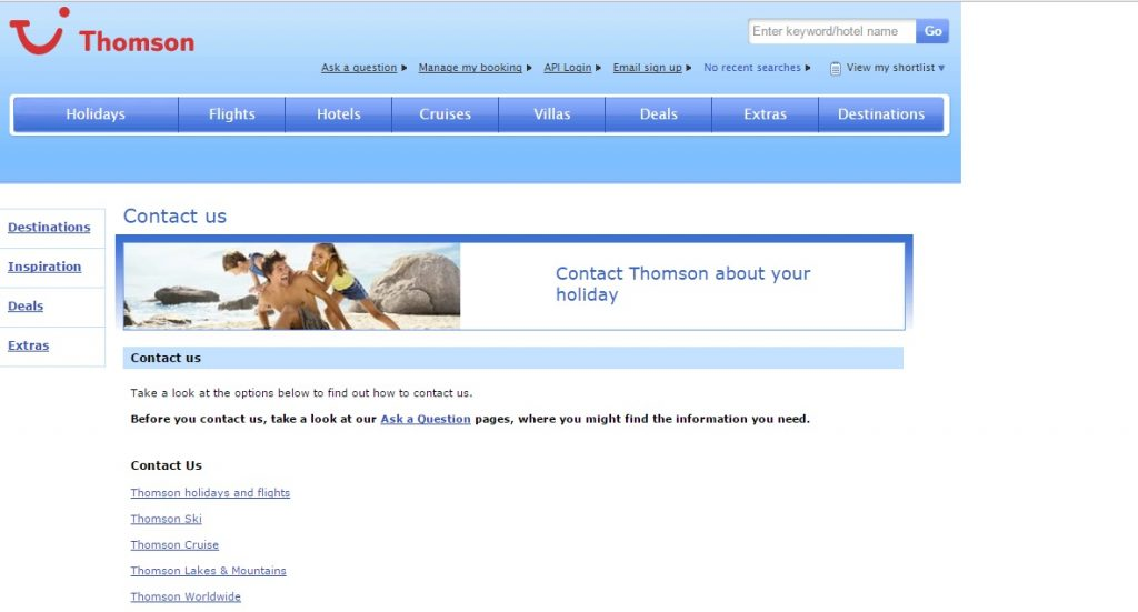 Thomson Customer Service number