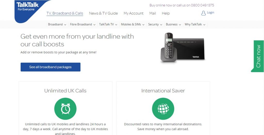 talktalk support helpline