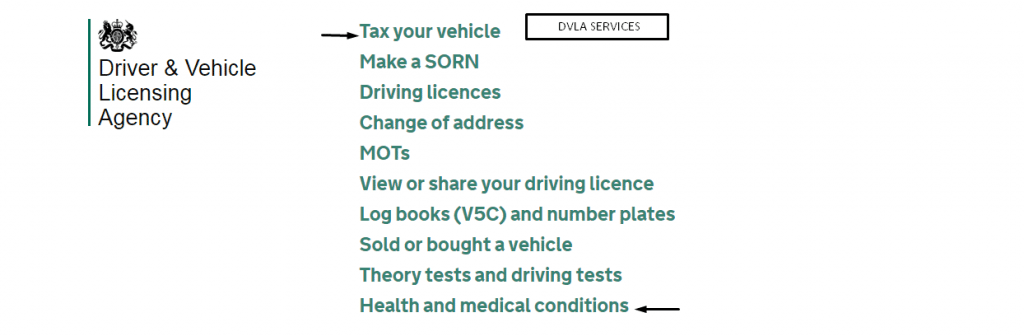 DVLA contact numbers