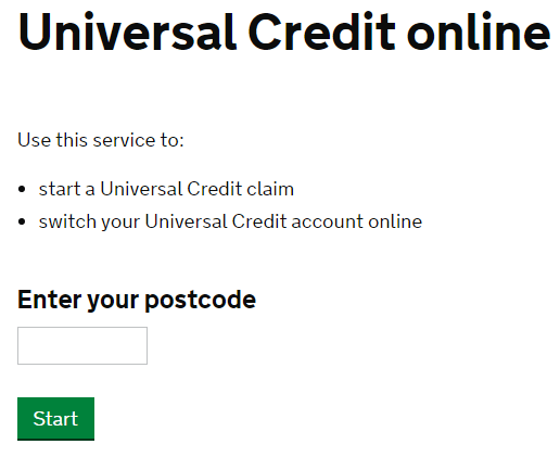 universal credit contact number UK