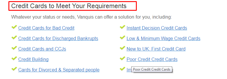 Vanquis bank customer care services UK