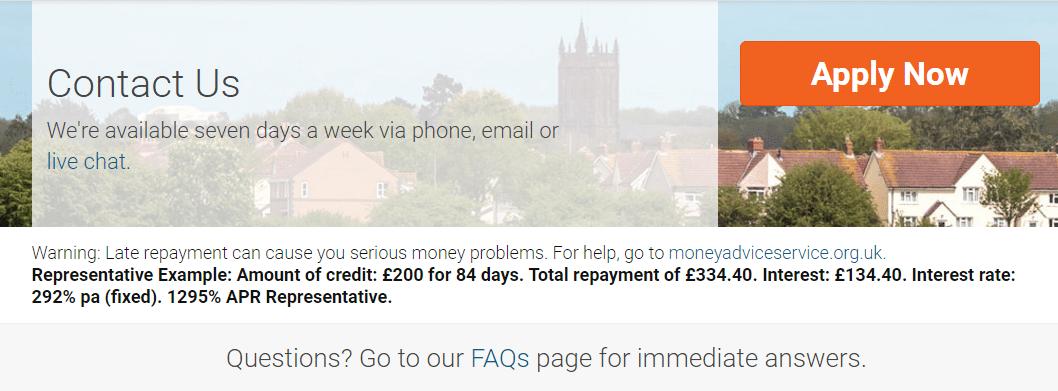 QuickQuid customer service numbers UK
