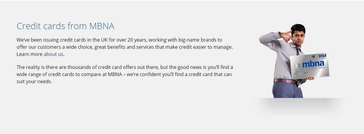 MBNA Bank Customer Service number