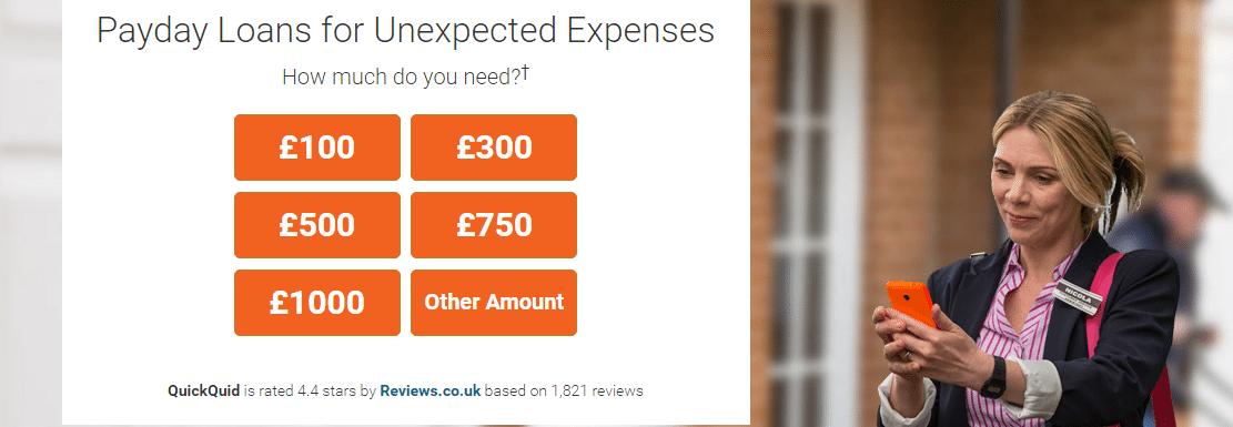 QuickQuid contact number UK