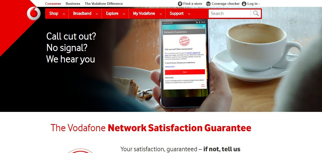 Vodafone Customer Service number